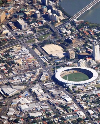 Arial View of Woolloongabba