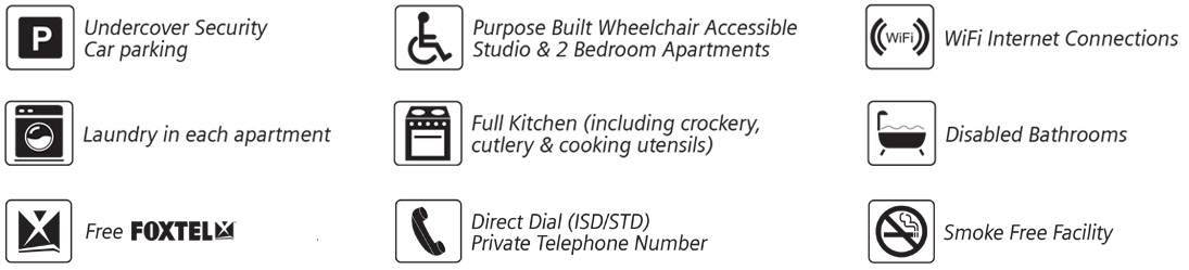Inclusions of wheelchair access apartments