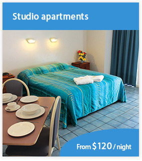 Book studio apartment accommodation