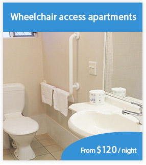 Wheelchair access hospital accommodation