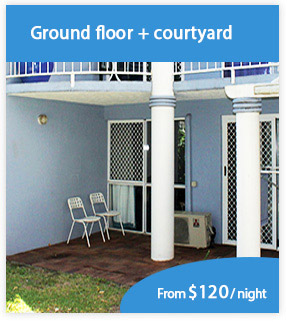 Ground floor private courtyards